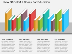 Row Of Colorful Books For Education Powerpoint Template