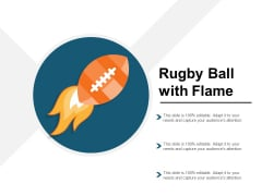 Rugby Ball With Flame Ppt PowerPoint Presentation Model Layouts
