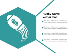 Rugby Game Vector Icon Ppt PowerPoint Presentation Portfolio Show