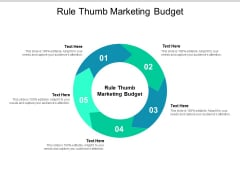 Rule Thumb Marketing Budget Ppt PowerPoint Presentation Summary Slide Cpb
