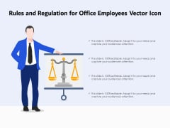 Rules And Regulation For Office Employees Vector Icon Ppt PowerPoint Presentation Infographics Images PDF