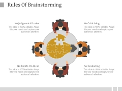 Rules Of Brainstorming Ppt PowerPoint Presentation Example