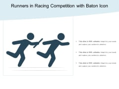 Runners In Racing Competition With Baton Icon Ppt PowerPoint Presentation Gallery Background Images PDF