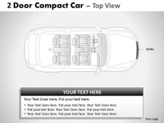 Racing 2 Door Gray Car Top PowerPoint Slides And Ppt Diagram Templates