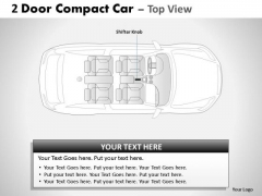 Rapid 2 Door Gray Car Top PowerPoint Slides And Ppt Diagram Templates