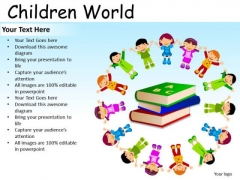 Read Books Children PowerPoint Slides And Ppt Templates