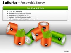 Rechargeable Batteries Renewable Energy PowerPoint Templates