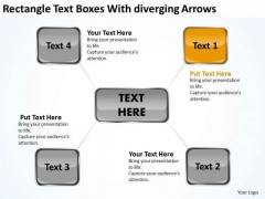Rectangle Text Boxes With Diverging Arrows Business Circular Flow Network PowerPoint Templates