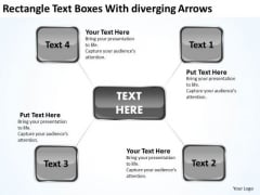 Rectangle Text Boxes With Diverging Arrows Ppt Circular Flow Network PowerPoint Templates
