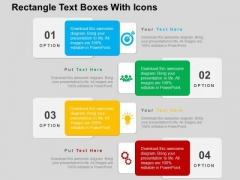 Rectangle Text Boxes With Icons PowerPoint Templates