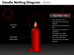 Red Candle Melting Diagram PowerPoint Slides And Ppt Diagram Templates
