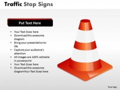 Reflection Traffic Stop PowerPoint Slides And Ppt Diagram Templates