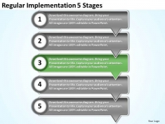 Regular Implementation 5 Stages Electrical Schematics PowerPoint Templates
