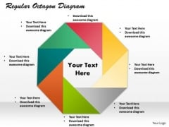 Regular Octagon Diagram PowerPoint Presentation Template