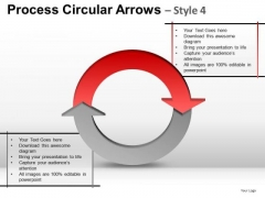 Relationship Diagram Process Circular Arrows 2 Stages PowerPoint Slides Ppt Templates