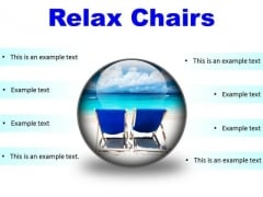 Relax Chairs Beach PowerPoint Presentation Slides C