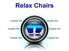 Relax Chairs Beach PowerPoint Presentation Slides Cc