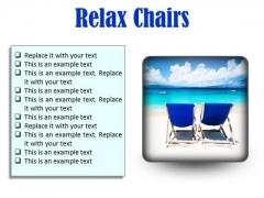 Relax Chairs Beach PowerPoint Presentation Slides S