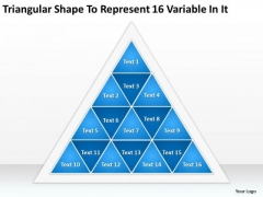 Represent 16 Variable In It Ppt Business Plan Templates PowerPoint