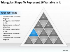 Represent 16 Variable In It Ppt How Write Business Plan Template PowerPoint Templates