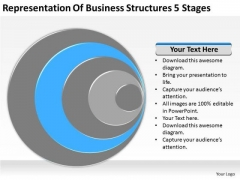Representation Of Business Structures 5 Stages Ppt Plan PowerPoint Templates