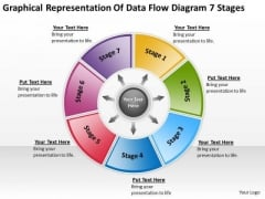Representation Of Data Flow Diagram 7 Stages Templates For Business PowerPoint