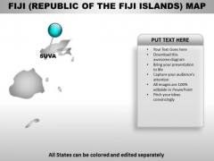 Republic Of The Fiji Island Country PowerPoint Maps