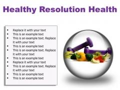 Resolution Health PowerPoint Presentation Slides C