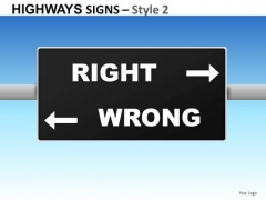 Right Wrong Signs 2 PowerPoint Slides And Ppt Diagram Templates