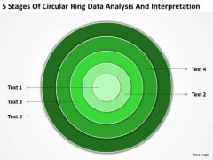 Ring Data Analysis And Interpretation Business Plan Template PowerPoint Templates