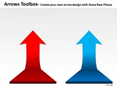 Rising Arrows Toolbox PowerPoint Slides And Ppt Diagram Templates