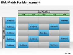 Risk Matrix For Management Ppt Business Plans Made Easy PowerPoint Templates