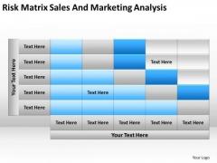 Risk Matrix Sales And Marketing Analysis Ppt Vending Machine Business Plan PowerPoint Templates