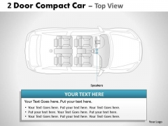 Road 2 Door Gray Car Top PowerPoint Slides And Ppt Diagram Templates