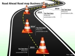 Road Ahead Road Map Business Plans PowerPoint Templates Ppt Slides Graphics