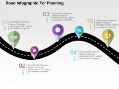 Road Infographic For Planning PowerPoint Template