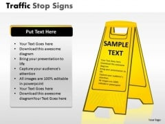 Road Safety Traffic Stop PowerPoint Slides And Ppt Diagram Templates