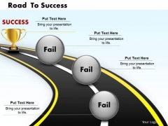 Road To Success PowerPoint Presentation Template