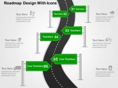 Roadmap Design With Icons PowerPoint Templates