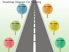 Roadmap Diagram For Planning PowerPoint Templates