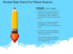 Rocket Style Pencil For Planet Science PowerPoint Templates
