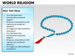 Rosary Beads Church PowerPoint Slides And Ppt Diagram Templates
