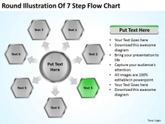 Round Illustration Of 7 Step Flow Chart Consultant Business Plan PowerPoint Slides