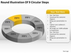 Round Illustration Of 9 Circular Steps Ppt Business Planning Software PowerPoint Slides