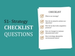 S1 Strategy Checklist Questions Ppt PowerPoint Presentation Pictures Slide Portrait