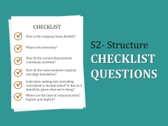S2 Structure Checklist Questions Ppt PowerPoint Presentation Microsoft