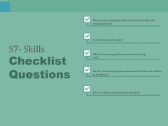 S7 Skills Checklist Questions Ppt PowerPoint Presentation Professional Portrait
