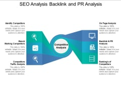 SEO Analysis Backlink And PR Analysis Ppt PowerPoint Presentation Outline Brochure