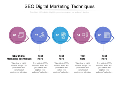 SEO Digital Marketing Techniques Ppt PowerPoint Presentation Professional Icons Cpb