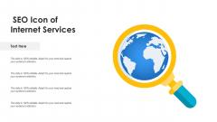 SEO Icon Of Internet Services Ppt PowerPoint Presentation Ideas Model PDF